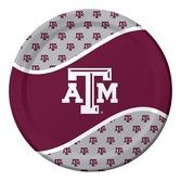 Sports Table Accessories Texas A&M Dinner Plates Image