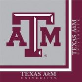 Sports Table Accessories Texas A&M Lunch Napkins Image