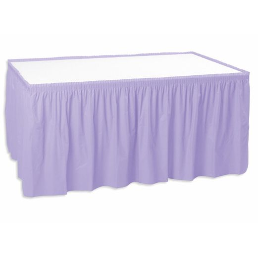 Baby Shower Table Accessories Lavender Table Skirt Image