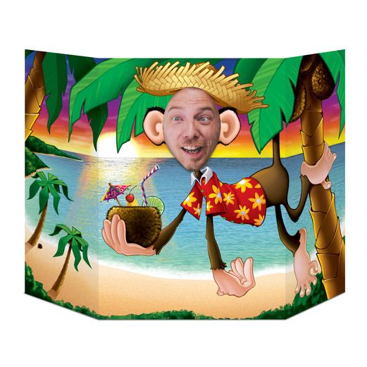 Luau Decorations Luau Monkey Photo Prop Image
