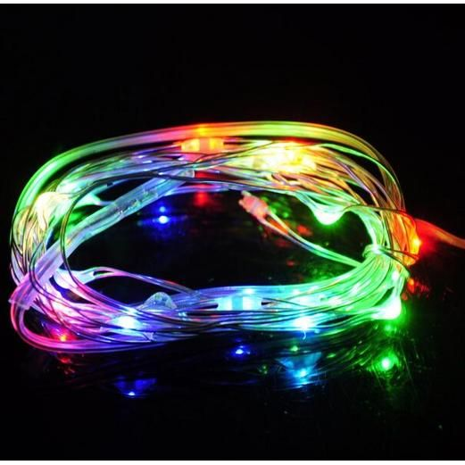 Glow Lights Multicolor LED Wire String Lights Image