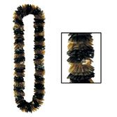 New Years Party Wear Black and Gold Two-Tone Lei Image
