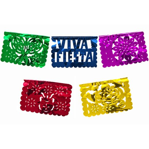 Cinco de Mayo Decorations Medium Metallic Fiesta Picado Image