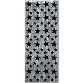 Decorations / Hanging Decorations Apparel Silver Curtain with Black Stars Image