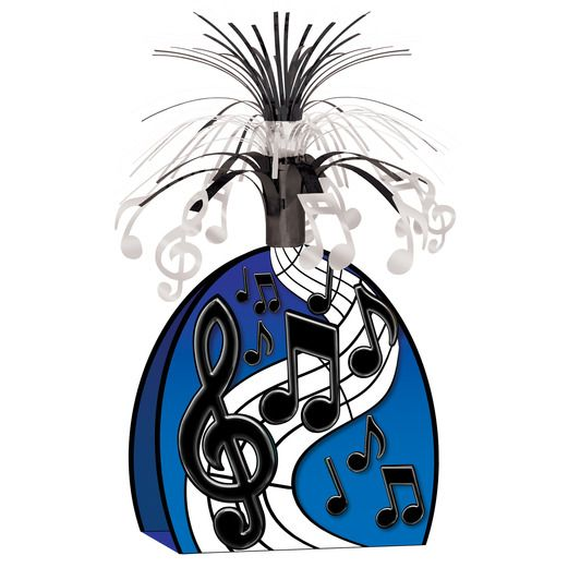 Music Decorations Black Music Notes Centerpiece Image