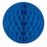 "Decorations 12"" Blue Tissue Ball Image"