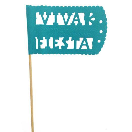Cinco de Mayo Decorations Turquoise Fiesta Flag Image
