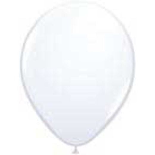 Balloons 3' White Latex Balloon Image