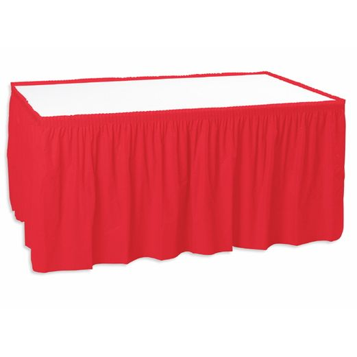 Valentine's Day Table Accessories Red Table Skirt Image