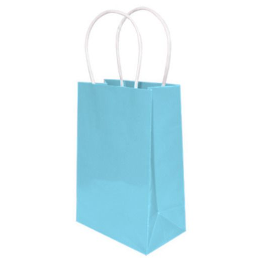 Baby Shower Gift Bags & Paper Small Gift Bag Light Blue Image