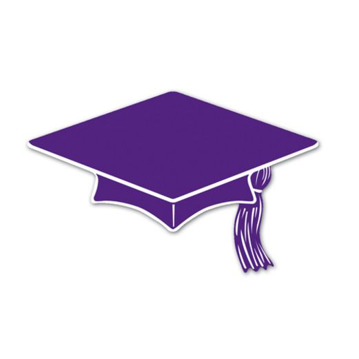 Graduation Decorations Purple Mini Graduation Cap Cutouts Image