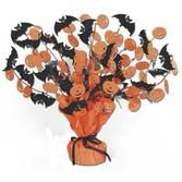 Halloween Decorations Bat and Pumpkin Centerpiece Image