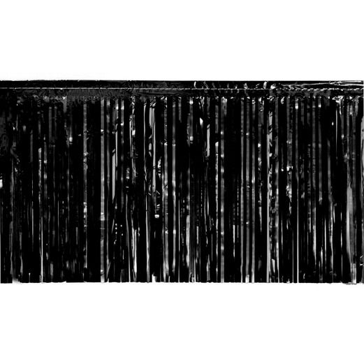 New Years Decorations Black Metallic Fringe Drape Image