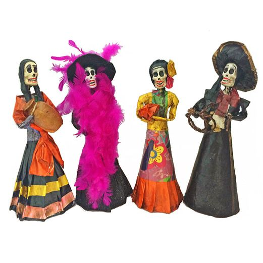 Day of the Dead Decorations Papier Mache Catrina Image