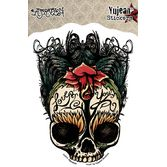 Day of the Dead Favors & Prizes Day of the Dead Sugar Skull Love Sticker Image