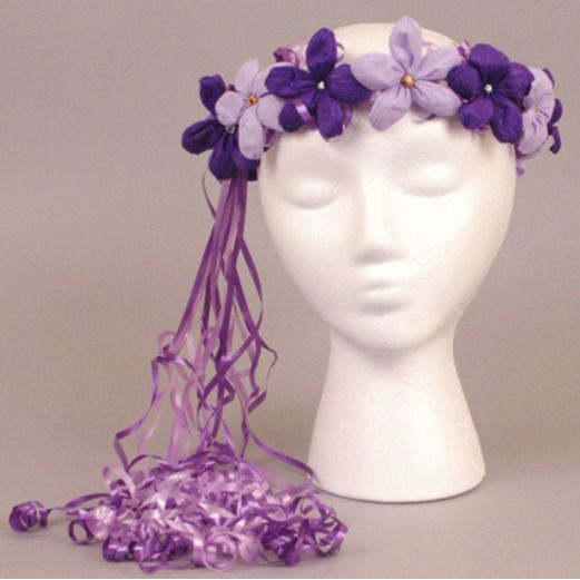 Cinco de Mayo Hats & Headwear Lavender and Purple Flower Crown Image