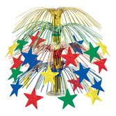 New Years Decorations Multicolor Star Cascade Centerpiece Image