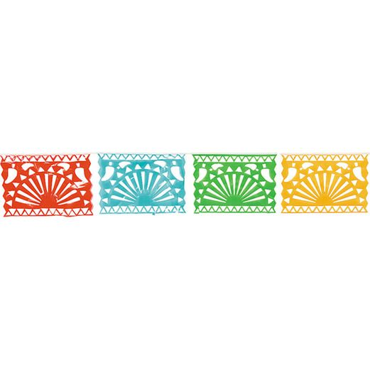 Cinco de Mayo Decorations Plastic Fiesta Cutout Garland Image