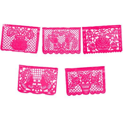 Cinco de Mayo Decorations Large Hot Pink Plastic Picado Image