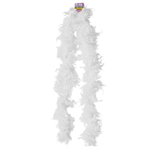 Party Wear White Feathered Boa Image