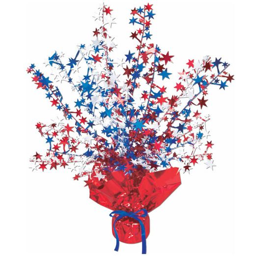 4th of July Decorations Red-White-Blue Star Burst Centerpiece Image