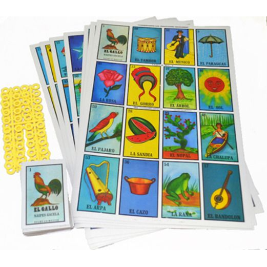 Cinco de Mayo Decorations Jumbo Loteria Bingo Image