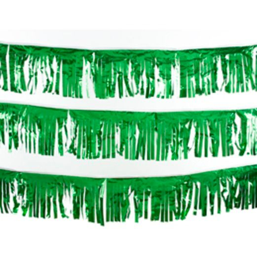 30' Green Metallic Fringe Banner