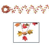 Thanksgiving Decorations Autumn Leaf Wire Garland Image