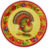 "Thanksgiving Table Accessories Festive Turkey 7"" Plates Image"