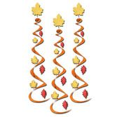 Thanksgiving Decorations Fall Leaf Whirls Image