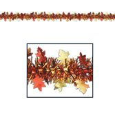 Thanksgiving Decorations Metallic Autumn Leaves Garland Image