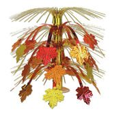 Thanksgiving Decorations Fall Leaves Cascade Centerpiece Image