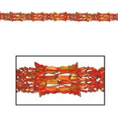 Thanksgiving Decorations Gold-Orange-Red Metallic Garland Image