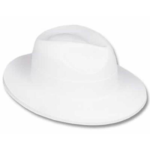 New Years Hats & Headwear White Velour Fedora Image