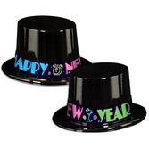 New Years Hats & Headwear Neon New Year Top Hat Image