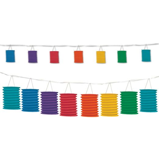 Cinco de Mayo Decorations Rainbow Lantern Garland Image