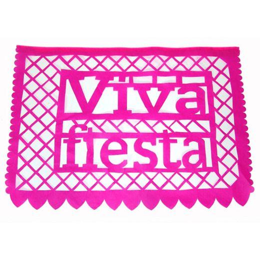 Fiesta Decorations Viva Fiesta Paper Picado Banner Image