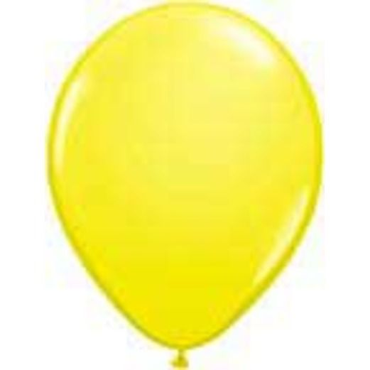 Balloons 3' Yellow Latex Balloon Image