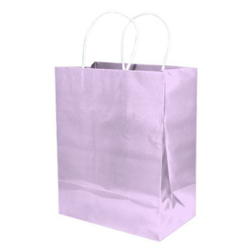 Baby Shower Gift Bags & Paper Medium Gift Bag Lavender Image