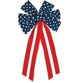 4th of July Decorations Polyester Patriotic Bow Image