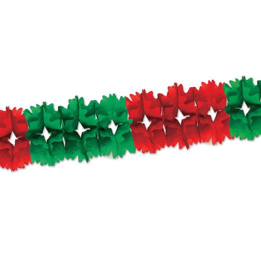 Christmas Decorations Red and Green Pageant Garland Image