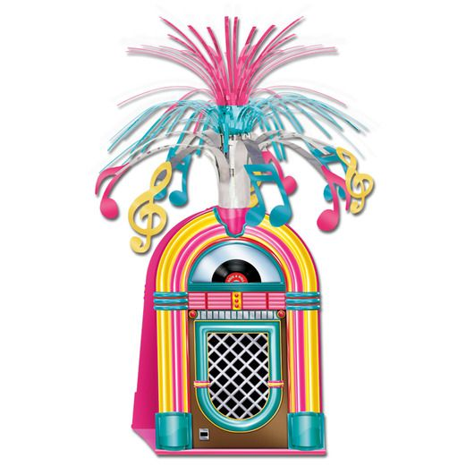 Fifties Decorations Jukebox Centerpiece Image