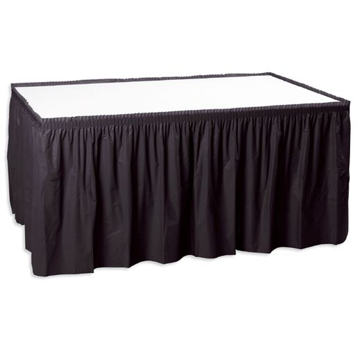 New Years Table Accessories Black Table Skirt Image