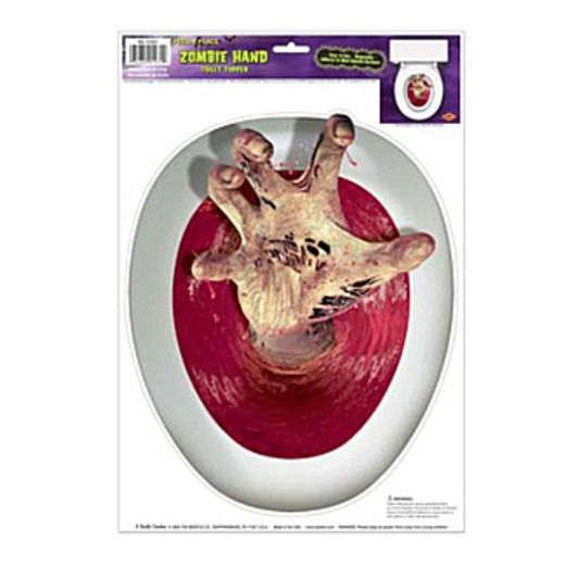 Halloween Decorations Scary Toilet Lid Cover Image