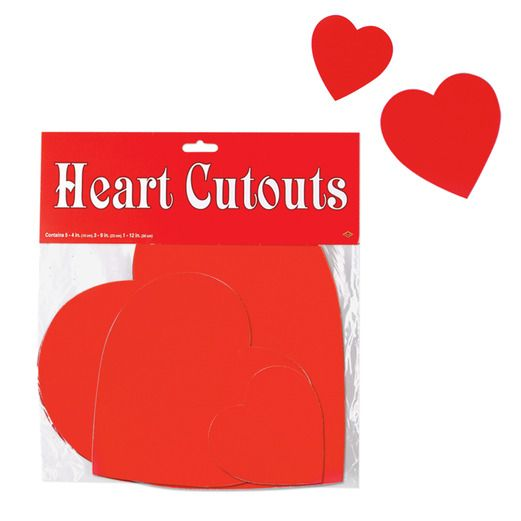 Valentine's Day Decorations Printed Heart Cutouts Image
