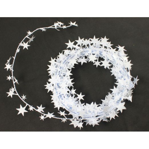 Wedding Decorations White Star Wire Garland Image