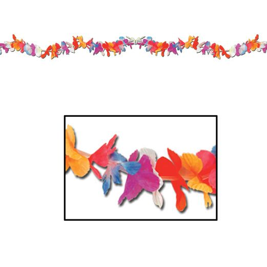 Luau Decorations Lei Petals Garland Image