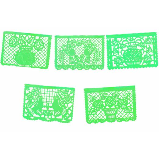 Cinco de Mayo Decorations Large Green Papel Picado Image