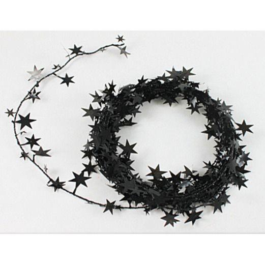 Halloween Decorations Black Star Wire Garland Image