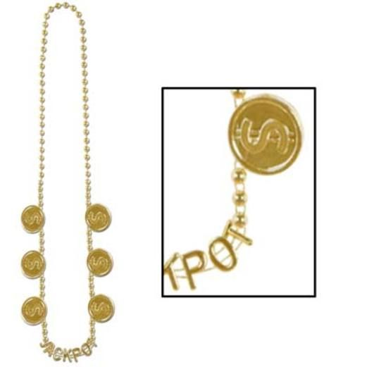 Casino Party Wear Jackpot Bead Necklace Image